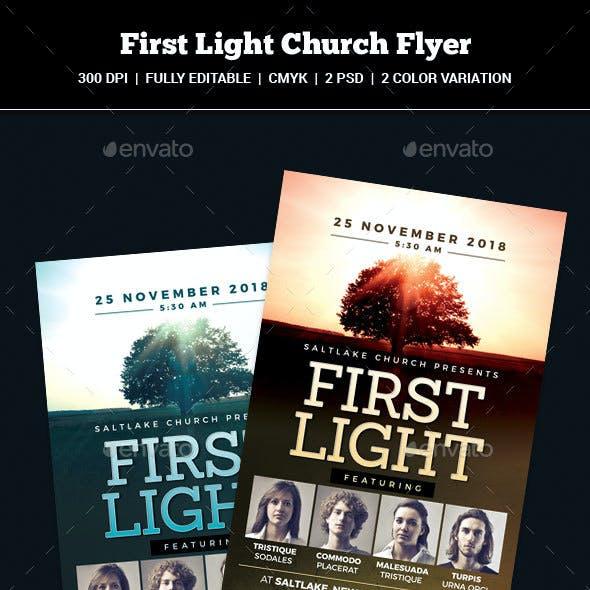 First Light Church Flyer