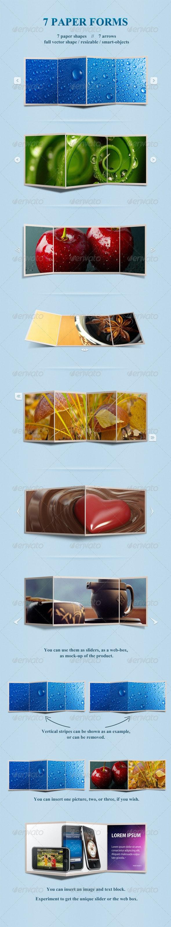 7 Paper Forms - Miscellaneous Web Elements
