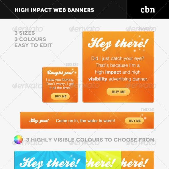High Impact Web Banners