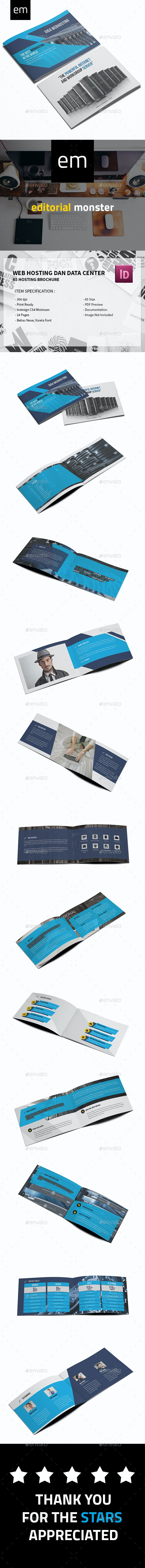 Web Hosting and Data Center Brochure A5 - Corporate Brochures