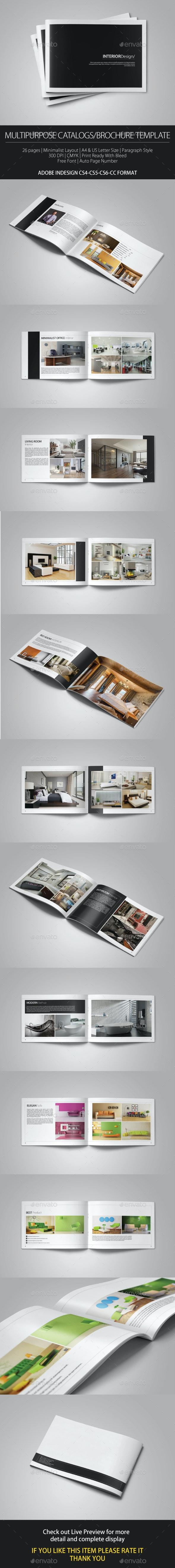 Multipurpose Portfolio Brochure Cataloge Template - Brochures Print Templates