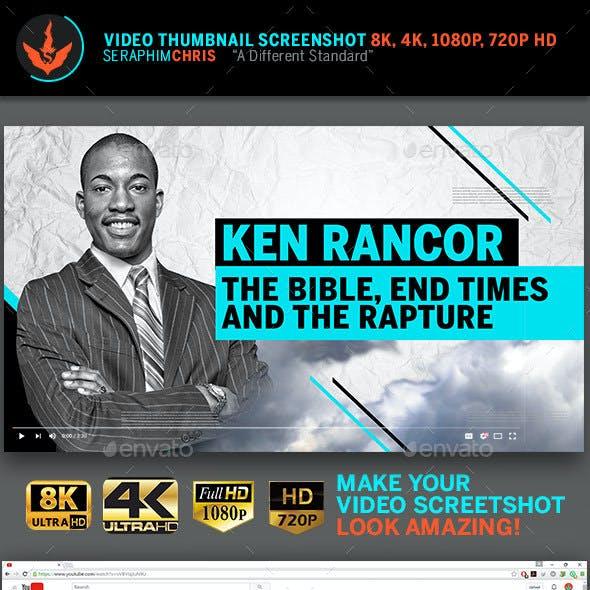 Sermon Title YouTube Video Thumbnail Screenshot Template