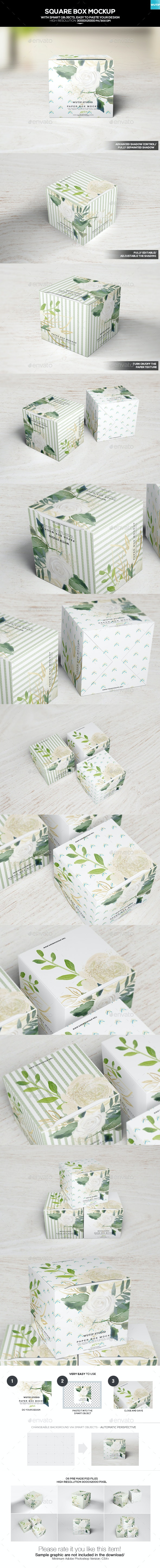 Square Box Mockup - Miscellaneous Packaging