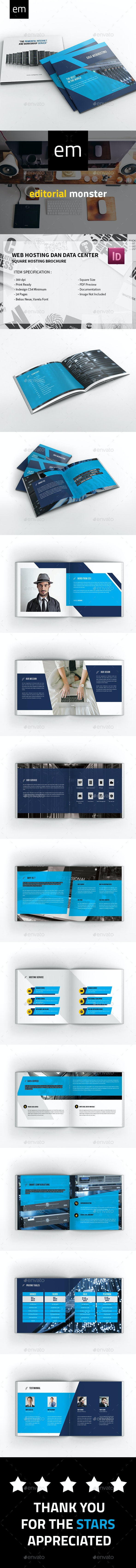 Web Hosting and Data Center Brochure Square - Corporate Brochures