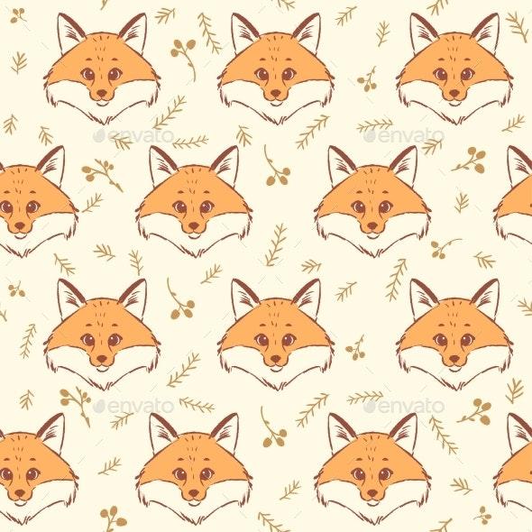 Fox Seamless - Miscellaneous Vectors