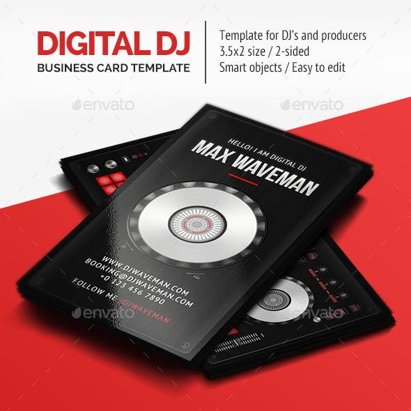 Digital DJ Business Card