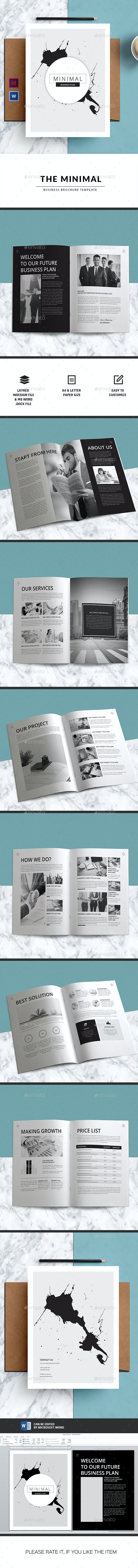 MINIMAL   Business Brochure-Indesign Template - Corporate Brochures