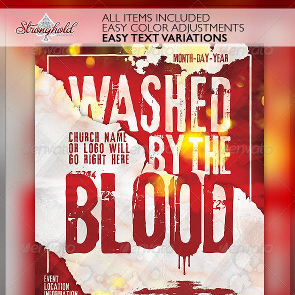 Washed By The Blood Church Flyer