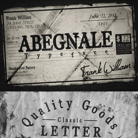 Abegnale vintage classic branding font