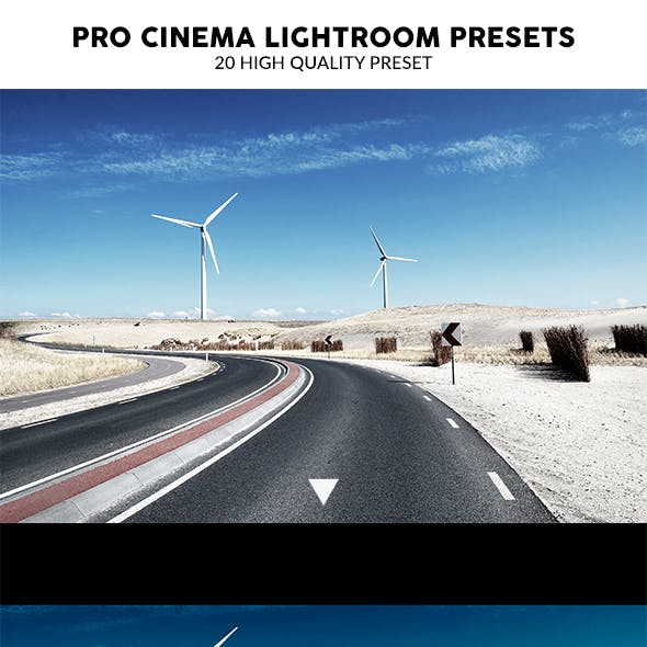 20 Pro Cinema Lightroom Presets