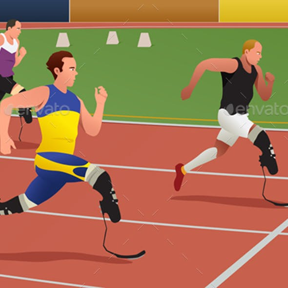 Disabled Athletes in Running Competition