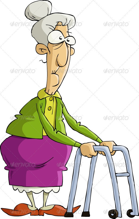 Old Woman - People Characters