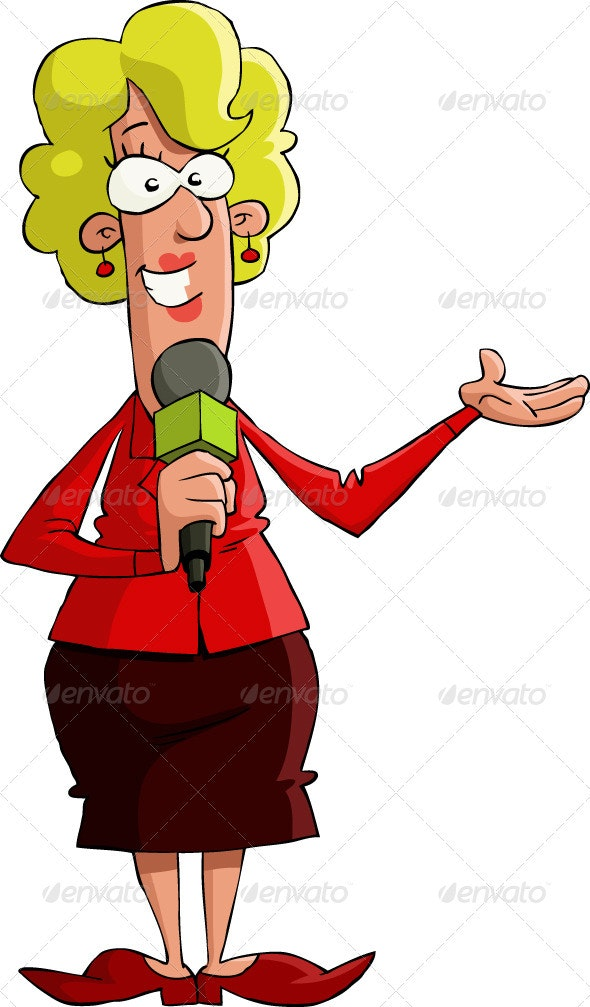 Female Reporter - People Characters