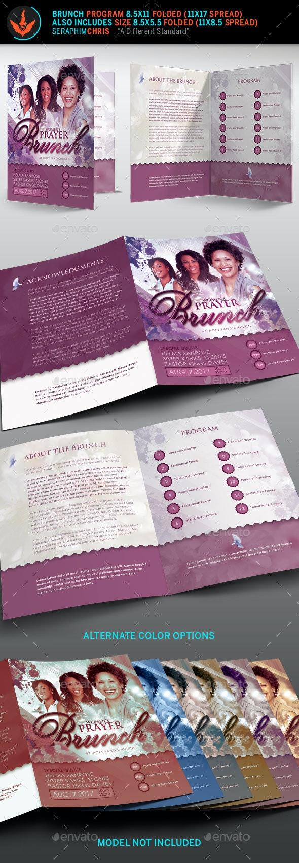 Prayer Brunch Church Program Template - Informational Brochures