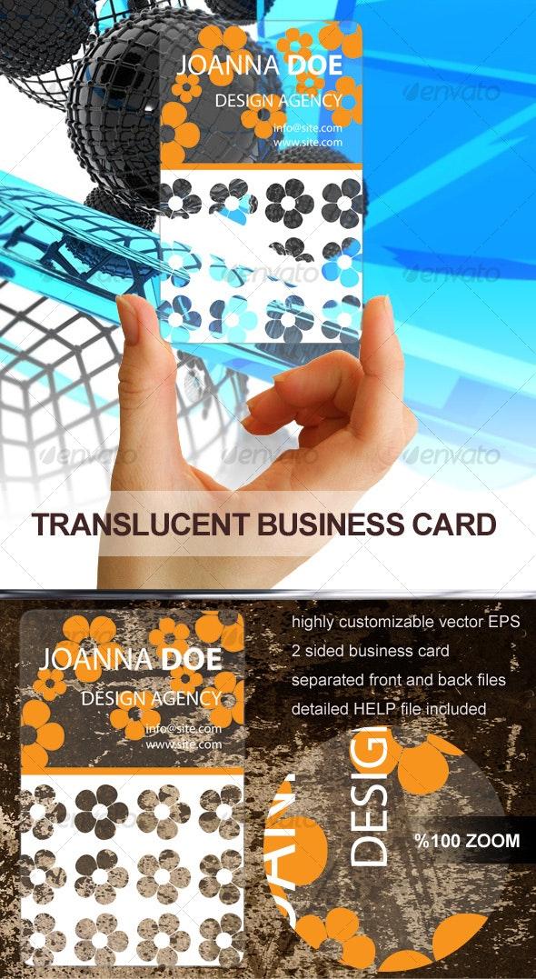 Translucent Plastic Business Card - Retro/Vintage Business Cards