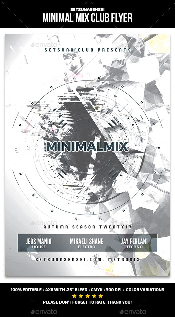 Minimal Mix Club Flyer - Clubs & Parties Events
