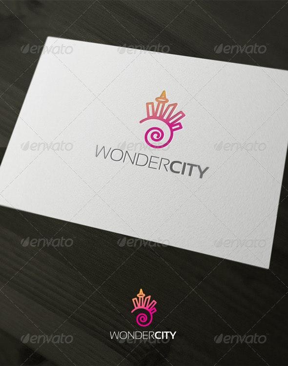 Wonder City - Buildings Logo Templates