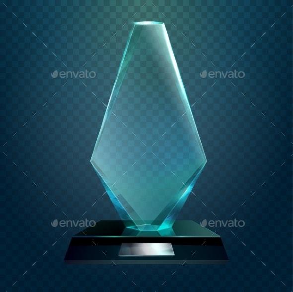 Transparent Rhombus Cup or Trophy Prize - Miscellaneous Vectors