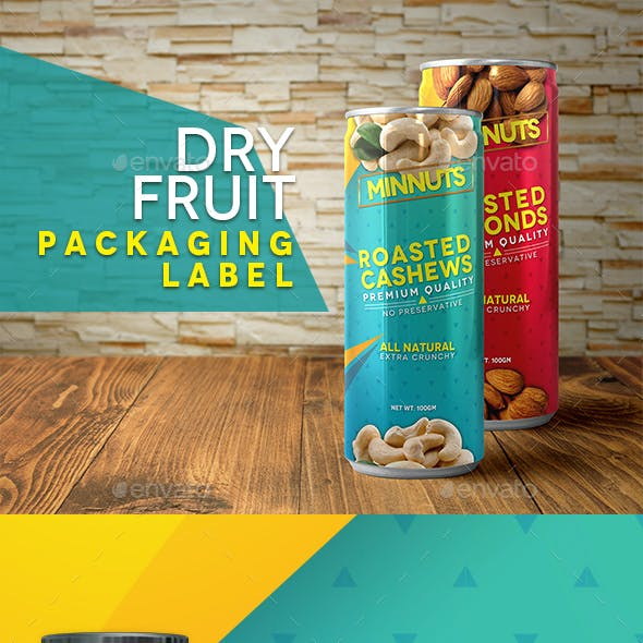 Dry Fruit Packaging Labels