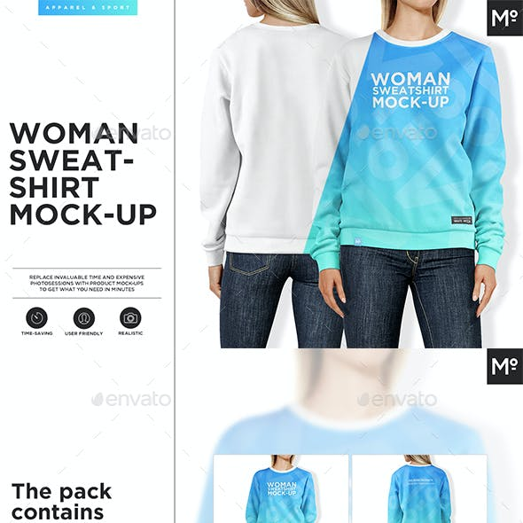 Women Sweatshirt Mock-up
