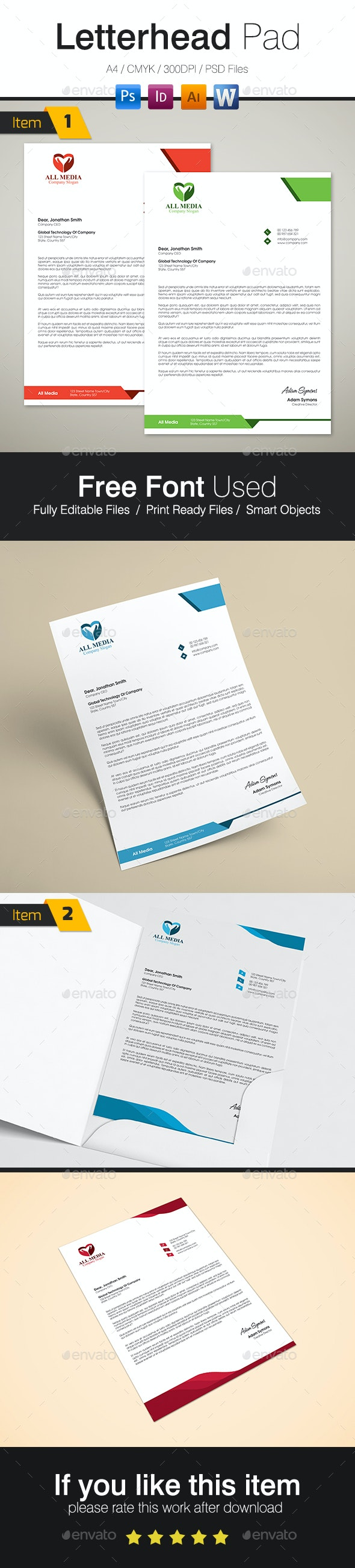 Letterhead Bundle - Stationery Print Templates