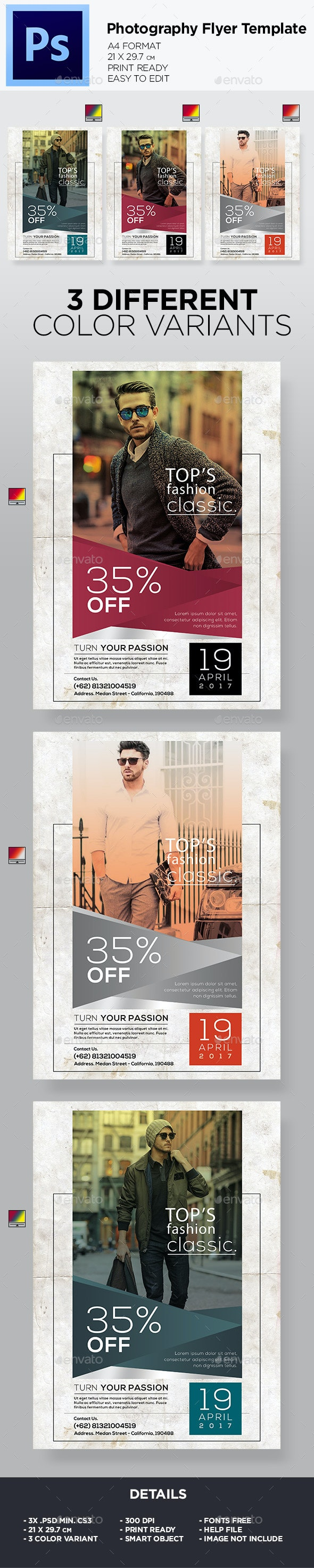 Photography - Flyer Template - Flyers Print Templates