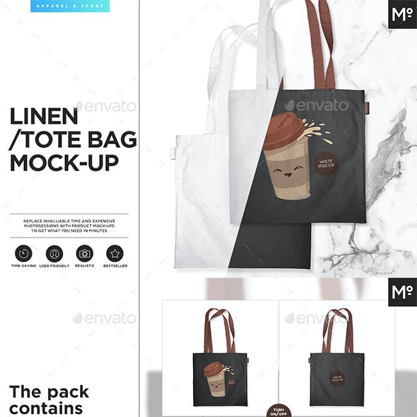 Linen/ Tote Bag Mock-up