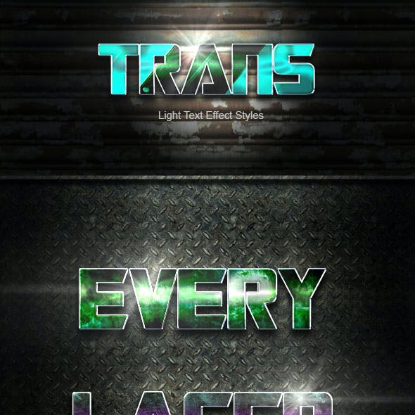 Trans Text Effect V40