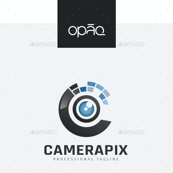 Camera Pixel C Letter Logo