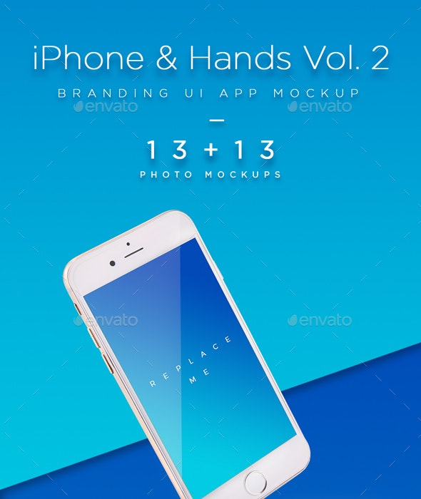 Phone Mock-up Brending Templates with Colorful and Clean Backgrounds Vol.2 - Mobile Displays
