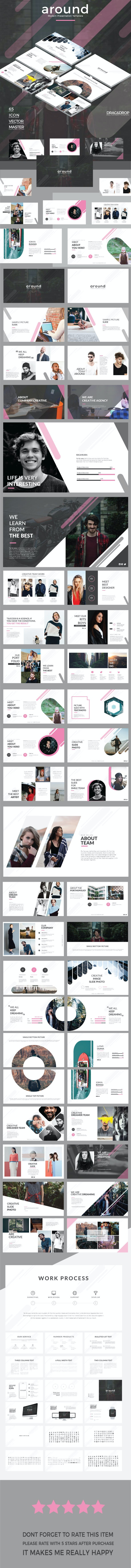 around - modern Google Slide Template - Google Slides Presentation Templates