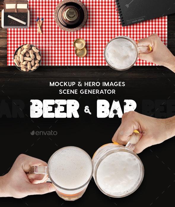 Beer & Bar Mockup & Hero Images Scene Generator