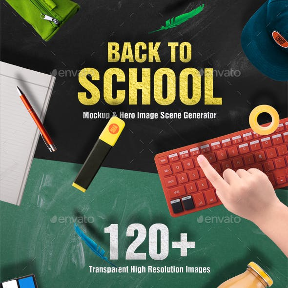 Back To School Mockups and Hero Image Scene Generator