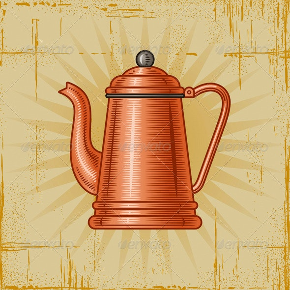 Retro Coffee Pot - Man-made Objects Objects