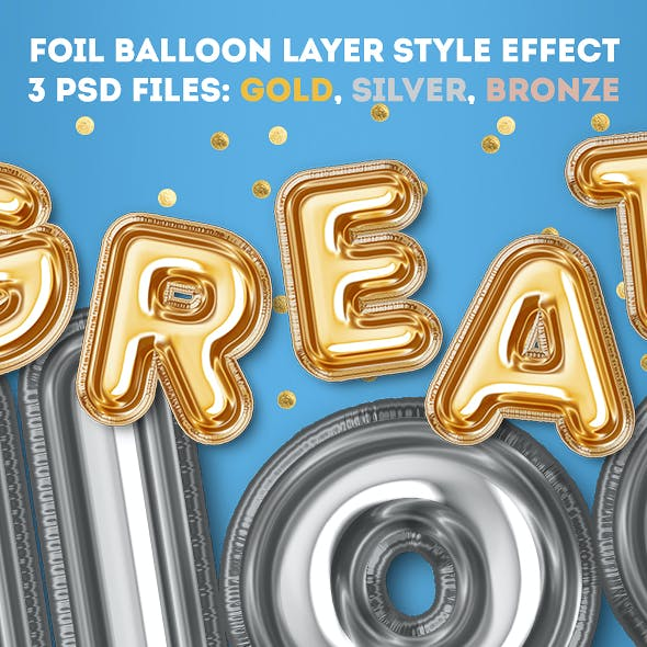 Foil Balloon Layer Style Effect