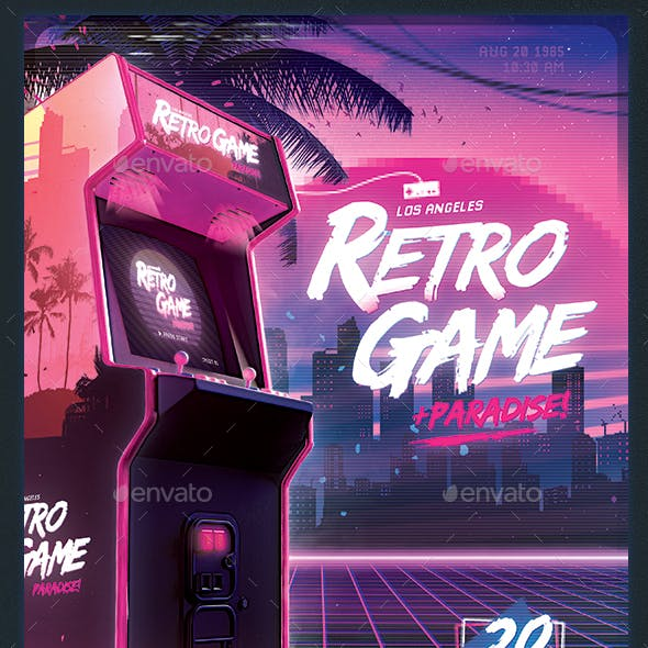 Retro Gaming Flyer II - Classic Gaming Template Poster