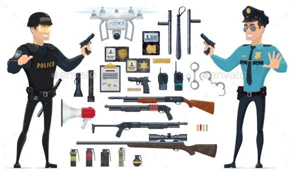 Police Elements Collection - Miscellaneous Vectors