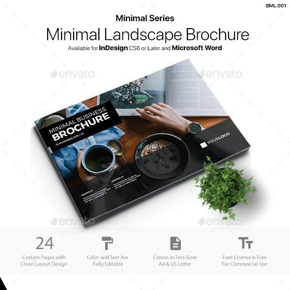 Minimal Landscape Brochure