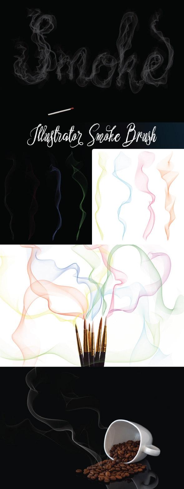 Illustrator Smoke Brush - Abstract Brushes