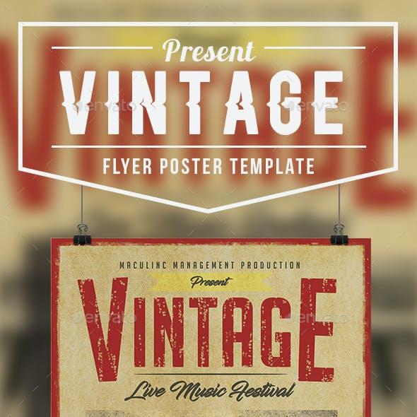 Vintage Flyer/Poster Vol.2