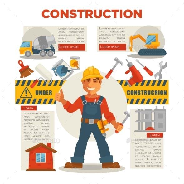 Builder Gesturing Thumbs Up