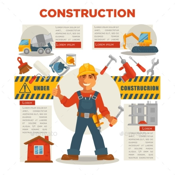 Builder Gesturing Thumbs Up - Industries Business