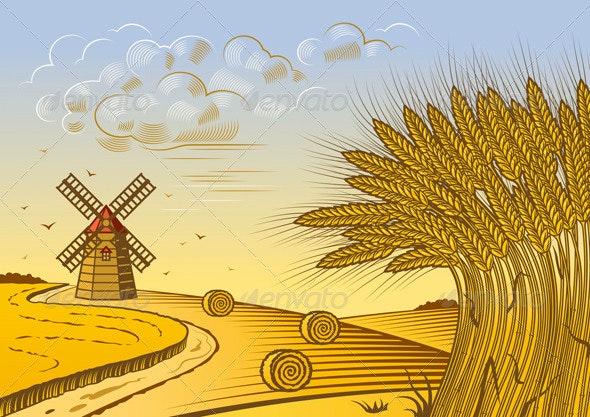 Wheat Fields Landscape - Landscapes Nature