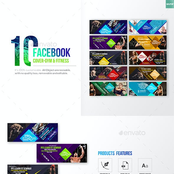10 Facebook Cover- Gym & Fitness
