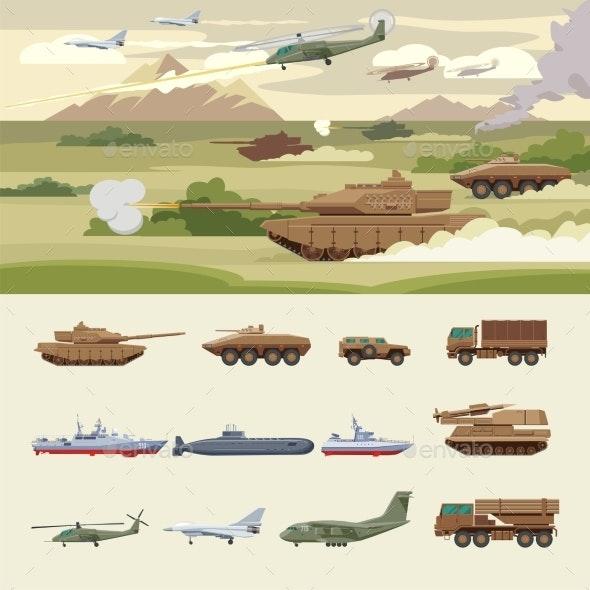 Military Transport Concept - Miscellaneous Vectors