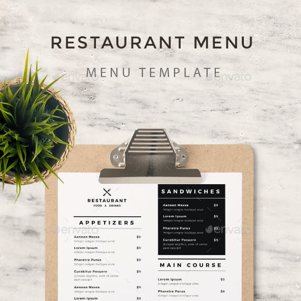 Simple Food Menu