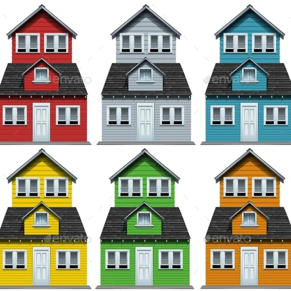 House with Six Different Colors