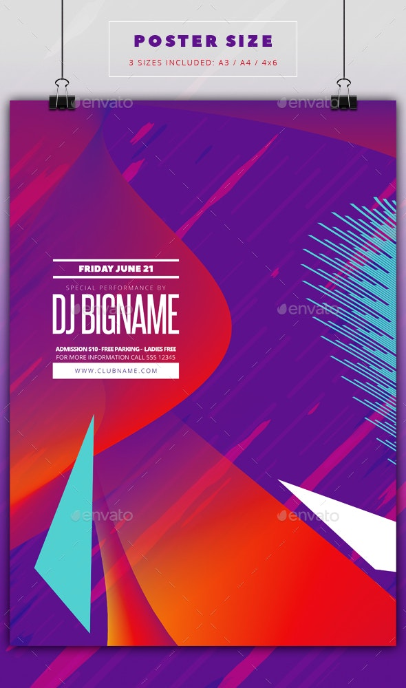 Party flyer template - Flyers Print Templates