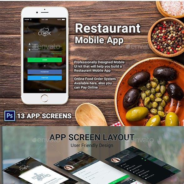 Restaurant Mobile APP - COOK