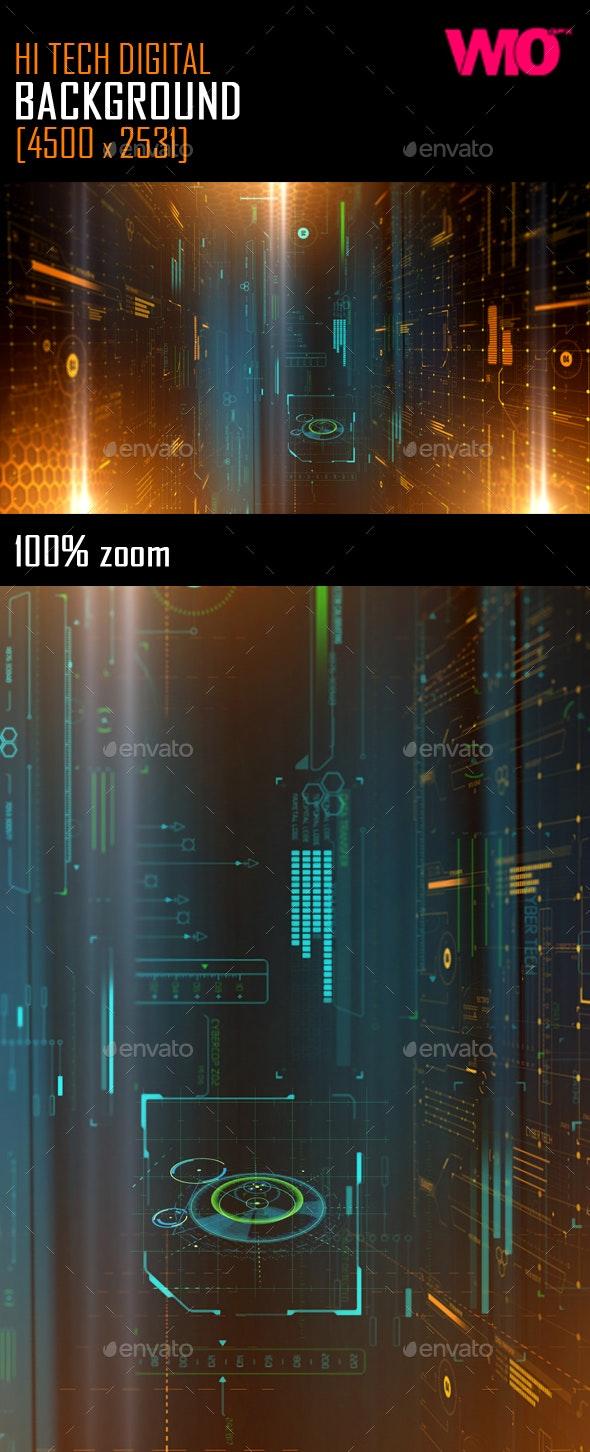 Hi Tech Digital Background - Tech / Futuristic Backgrounds